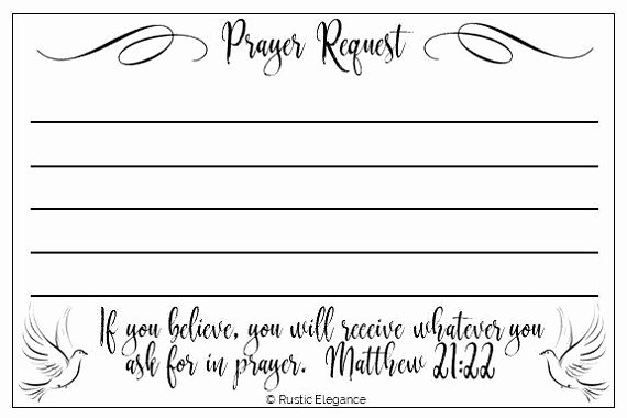 Free Prayer Request form Template Inspirational Packs Of Prayer Request Cards Products