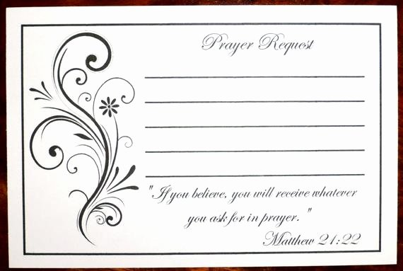 Free Prayer Request form Template Luxury Pack Of 100 Prayer Request Cards