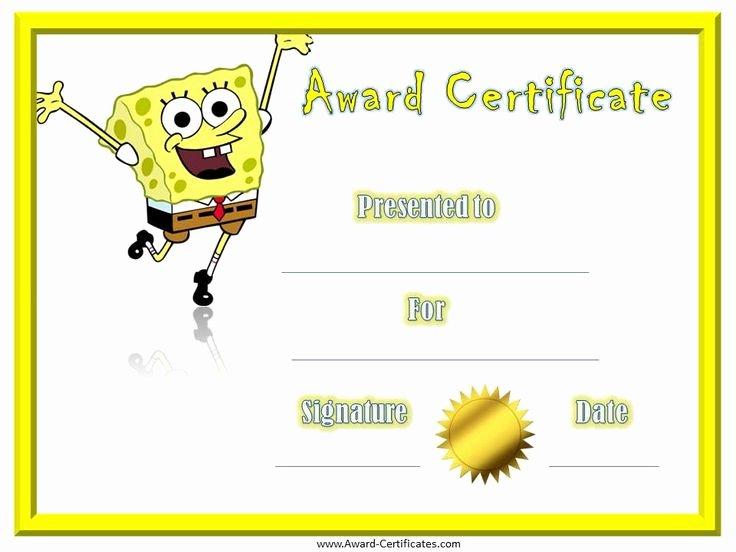 Free Preschool Certificate Template Elegant Free Printable Award Certificate Template