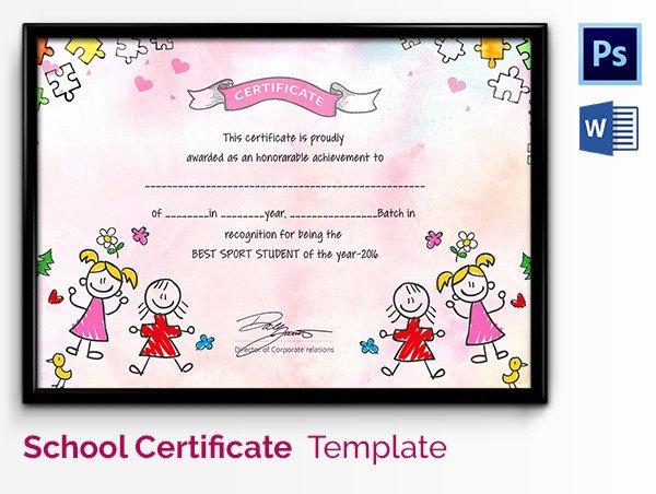 Free Preschool Certificate Template Elegant Preschool Certificate Template 18 Free Word Pdf Psd