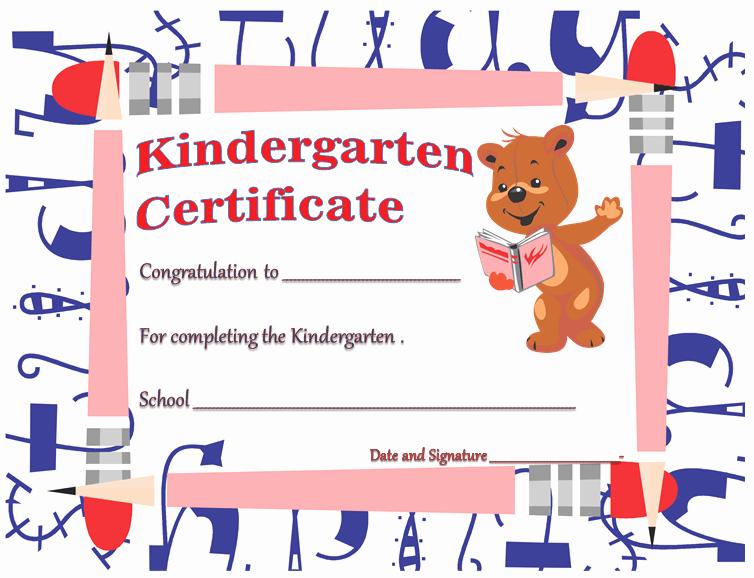 Free Preschool Certificate Template Inspirational Kindergarten Diploma Certificates Printable Templates