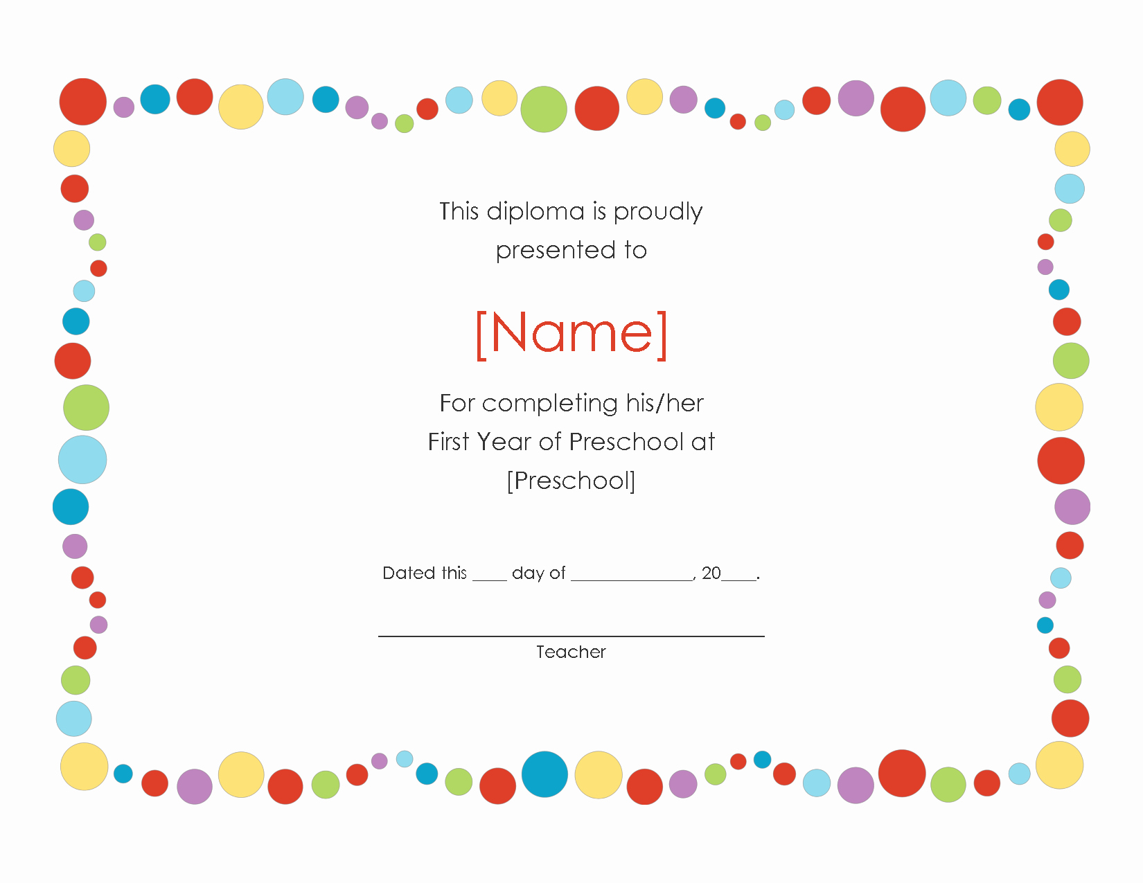 Free Preschool Certificate Templates Awesome Pre K Certificates Of Pletion