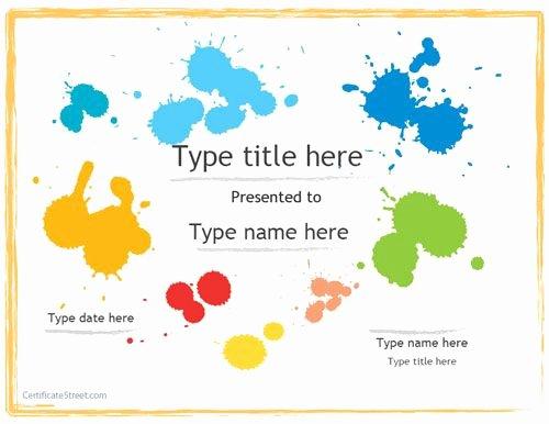 Free Preschool Certificate Templates Elegant Pinterest Certificate for Preschool Templates