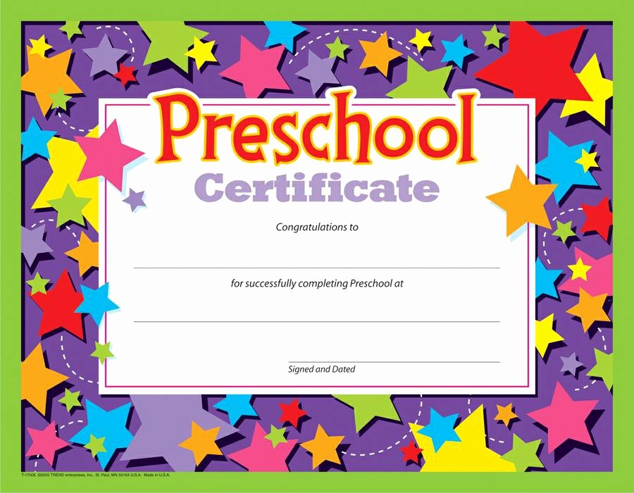 Free Preschool Certificate Templates Inspirational Preschool Border Preschool Certificate Clipartpost