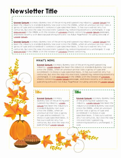 Free Preschool Newsletter Template Microsoft Word Awesome Newsletter formats Free