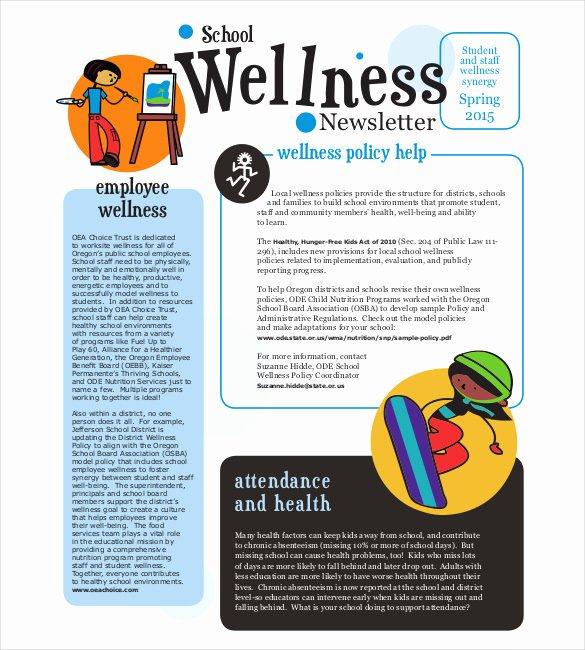 Free Preschool Newsletter Template Microsoft Word Fresh 14 School Newsletter Templates Free Sample Example