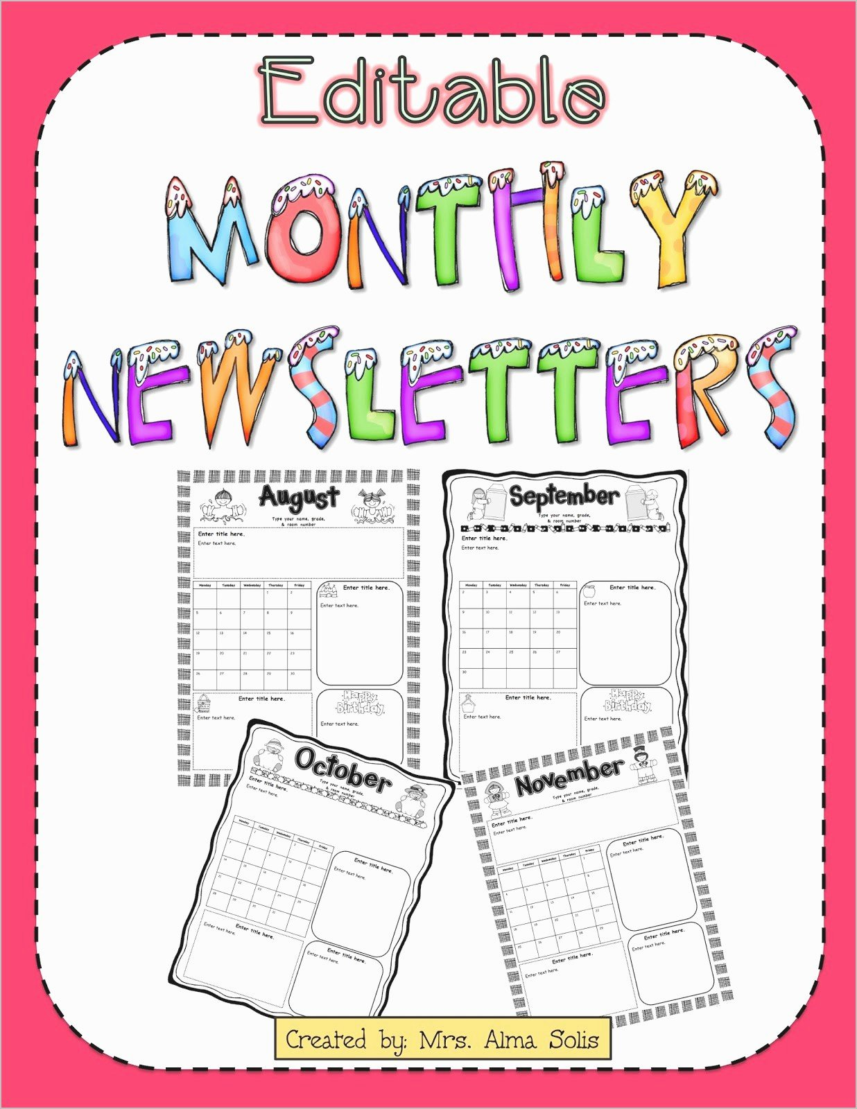 Free Preschool Newsletter Template Microsoft Word Fresh Free Editable Newsletter Templates for Word