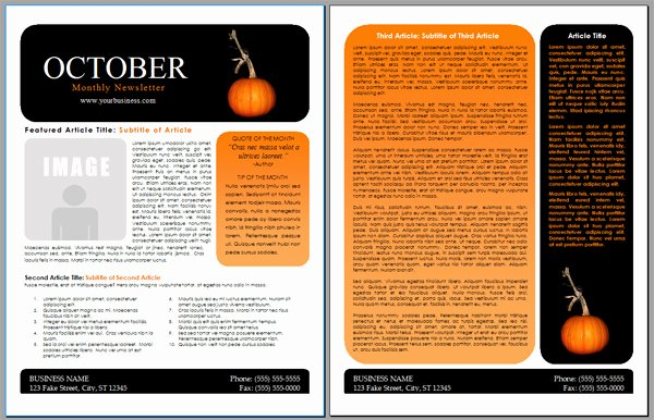 Free Preschool Newsletter Template Microsoft Word Lovely Worddraw Free Halloween Newsletter Templates