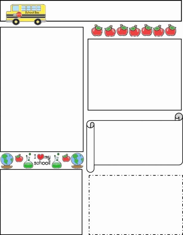 Free Preschool Newsletter Template Microsoft Word Luxury Free Editable Newsletter Templates for Teachers