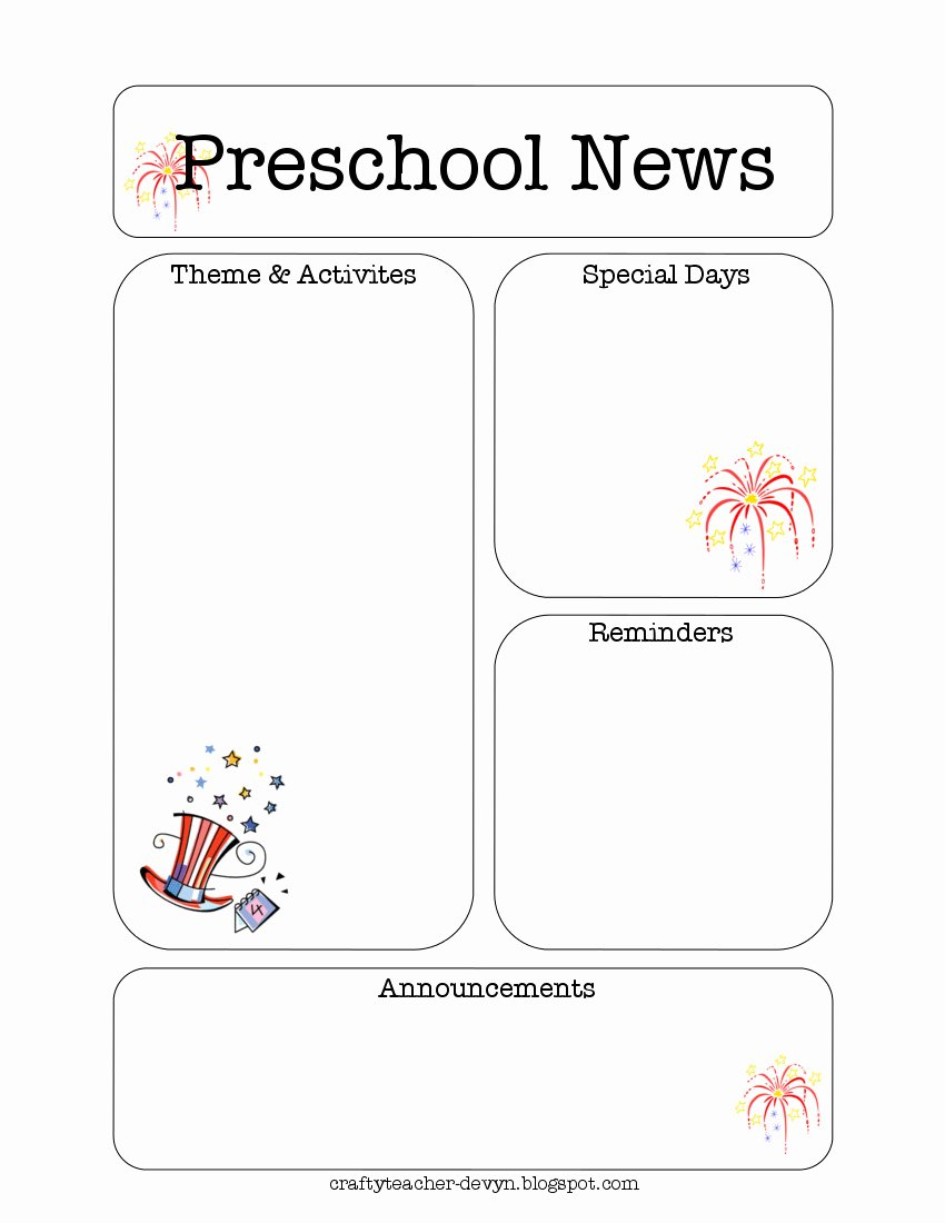 Free Preschool Newsletter Template Microsoft Word Luxury Preschool Newsletter Template