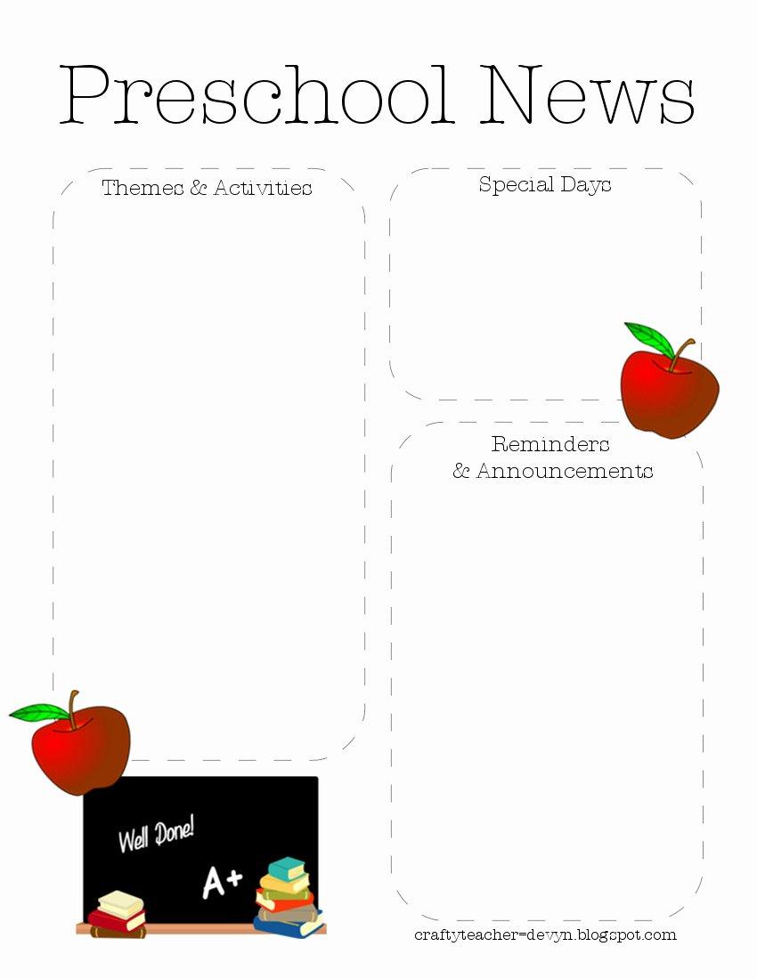 Free Preschool Newsletter Template Microsoft Word Unique Preschool Newsletter Quotes Quotesgram