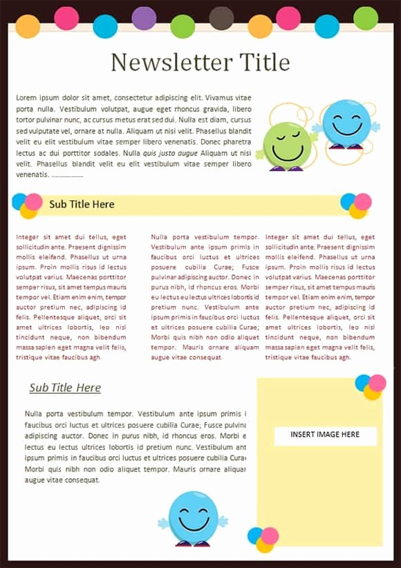 Free Preschool Newsletter Templates for Word Awesome Sample Templates Free formats Excel Word