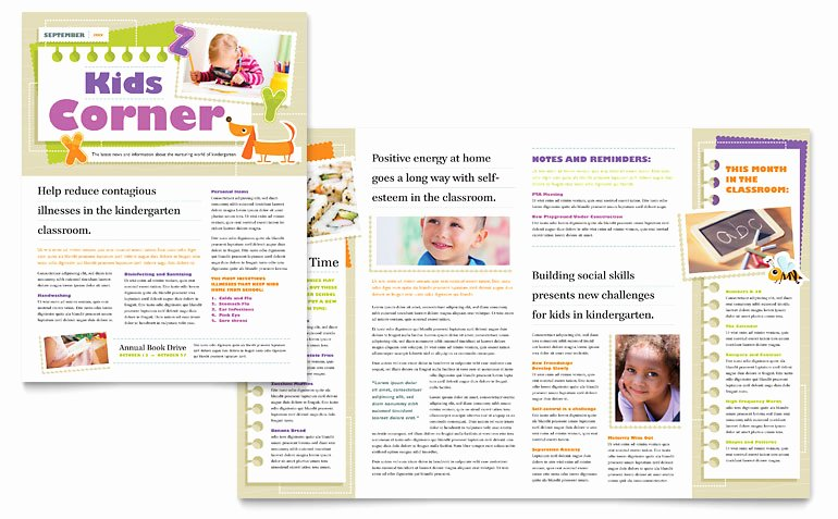 Free Preschool Newsletter Templates for Word Fresh Kindergarten Newsletter Template Word & Publisher