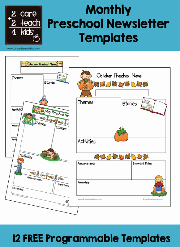 Free Preschool Newsletter Templates for Word Inspirational Preschool Newsletters Free Printable Templates