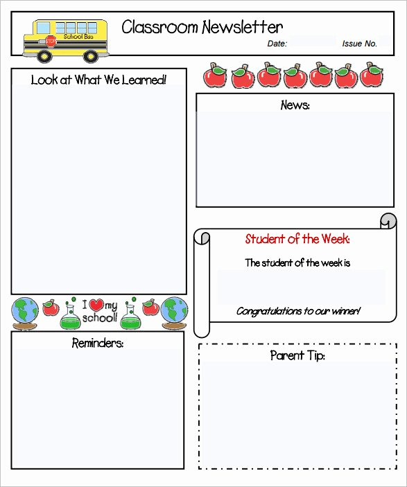 Free Preschool Newsletter Templates for Word Inspirational Sample Kindergarten Newsletter Template 15 Free