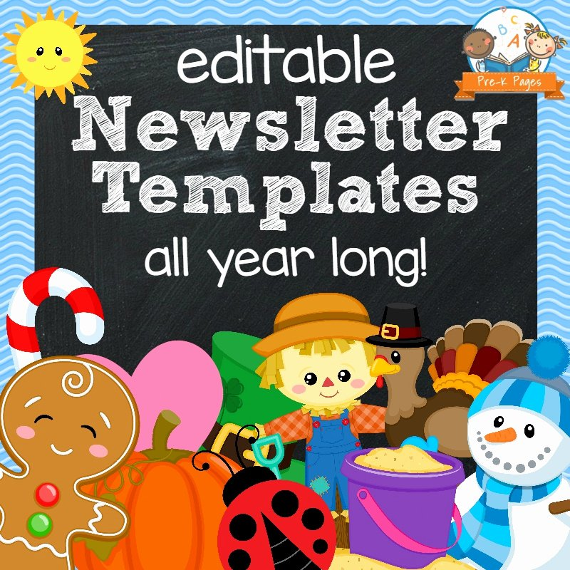 Free Preschool Newsletter Templates for Word Lovely Classroom Newsletters Pre K Pages