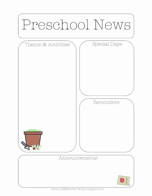 Free Preschool Newsletter Templates for Word Lovely Gardening themed Preschool Newsletter Template