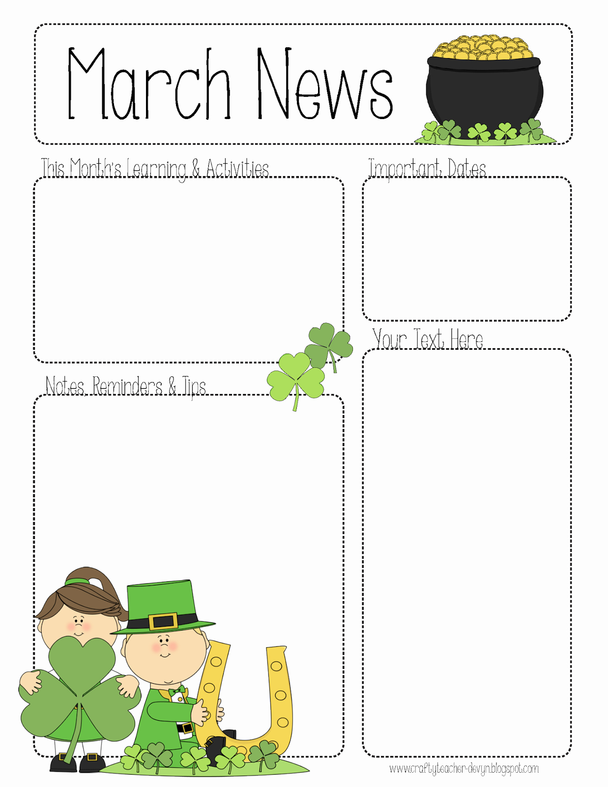 Free Preschool Newsletter Templates for Word New March Newsletter