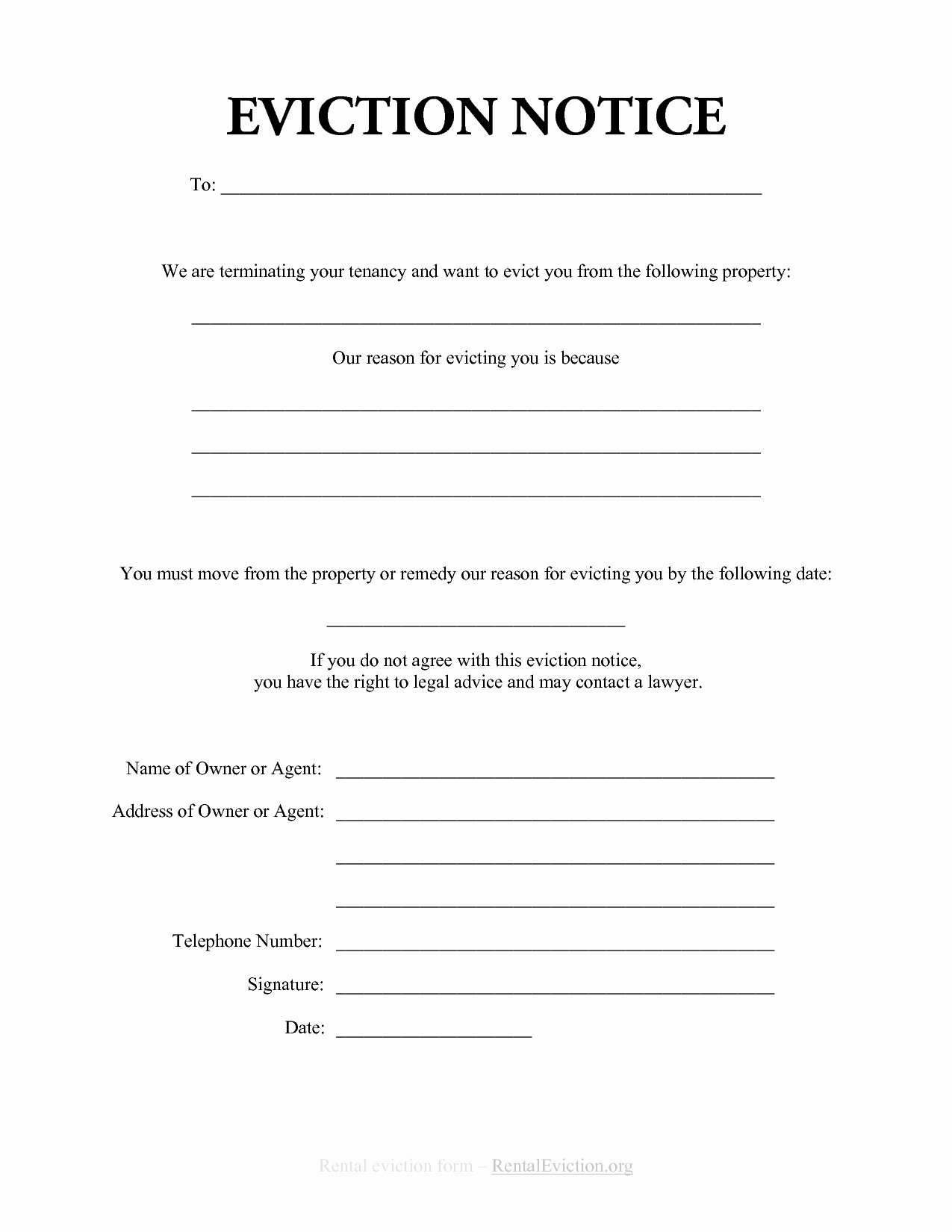 Free Printable 30 Day Eviction Notice Template Inspirational Free Print Out Eviction Notices