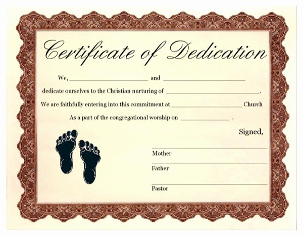 Free Printable Baby Dedication Certificate Template New Download Baby Dedication Certificate 3 for Free formtemplate