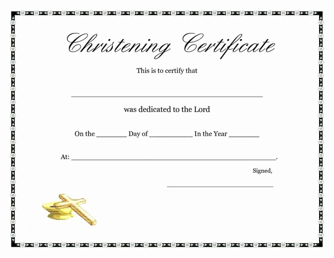 Free Printable Baptism Certificate Best Of Free Baptism Certificate Template Template Update234