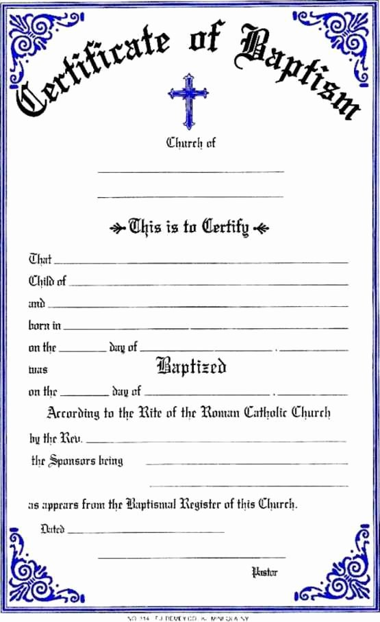 Free Printable Baptism Certificate Lovely Free Printable Baptism Certificates Template Update234