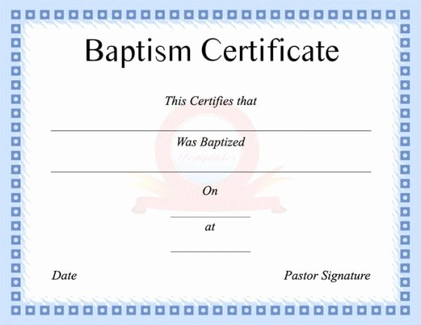 Free Printable Baptism Certificates Templates Awesome 99 Free Printable Certificate Template Examples In Pdf