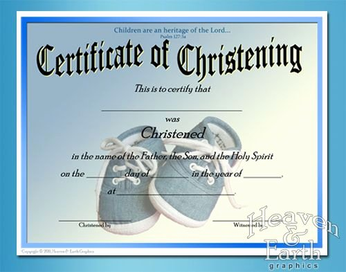 Free Printable Baptism Certificates Templates Best Of Baby Christening Certificate Template Free