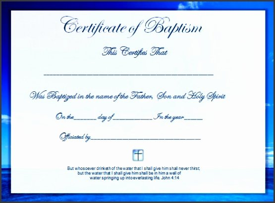 Free Printable Baptism Certificates Templates Fresh 9 Ms Word Certificate Appreciation Template