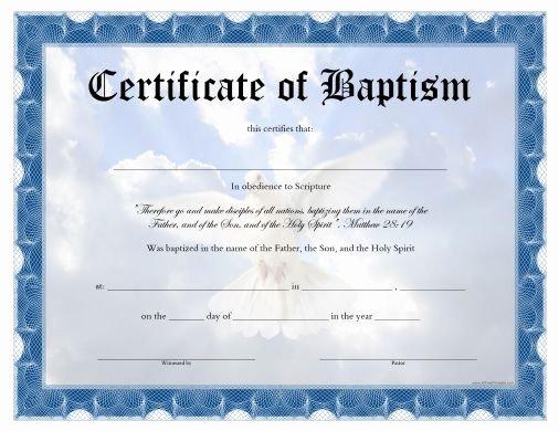 Free Printable Baptism Certificates Templates Fresh Free Printable Baptism Certificate