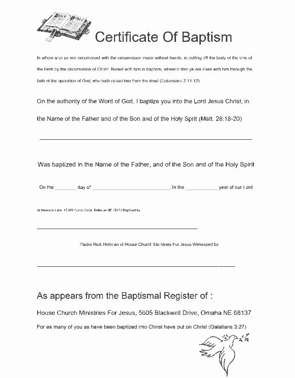 Free Printable Baptism Certificates Templates New 47 Baptism Certificate Templates Free Printable Templates