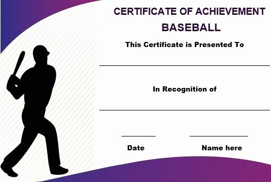 Free Printable Baseball Certificates Best Of Baseball Certificate Of Achievement Template