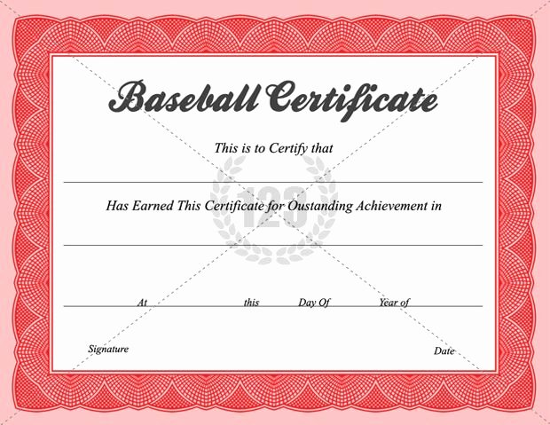 Free Printable Baseball Certificates Fresh Baseball Certificate Templates Baseball Award Certificate