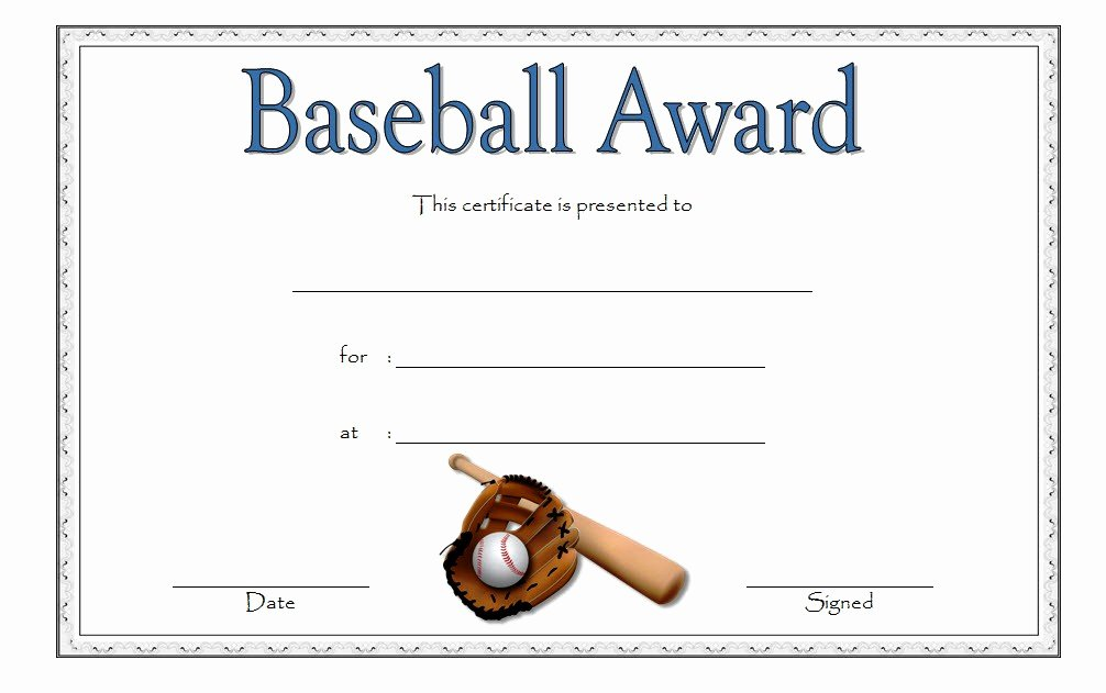 Free Printable Baseball Certificates Lovely Editable Baseball Award Certificates [9 Sporty Designs Free]