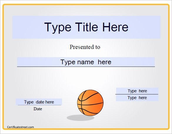 Free Printable Basketball Certificates Best Of 2 Basketball Certificate Templates Free Download