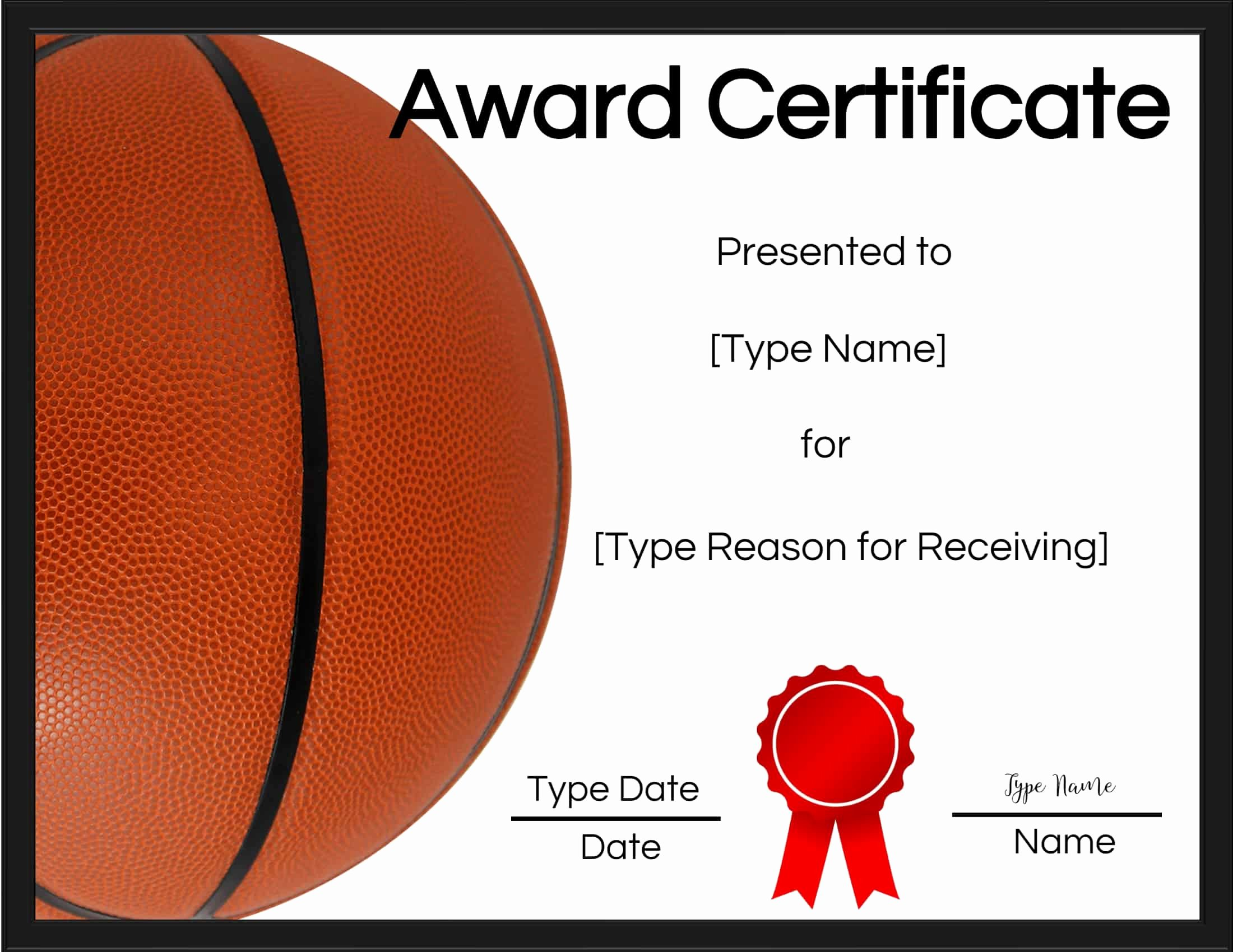 Free Printable Basketball Certificates Elegant Free Printable Basketball Certificates