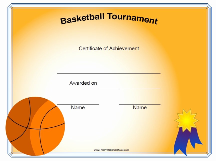 Free Printable Basketball Certificates Fresh 13 Free Sample Basketball Certificate Templates