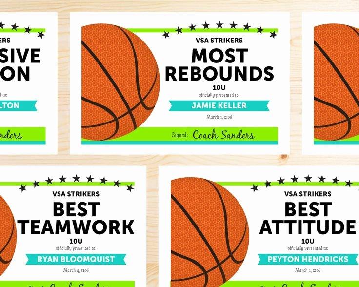 Free Printable Basketball Certificates Fresh Best 25 Basketball Awards Ideas On Pinterest
