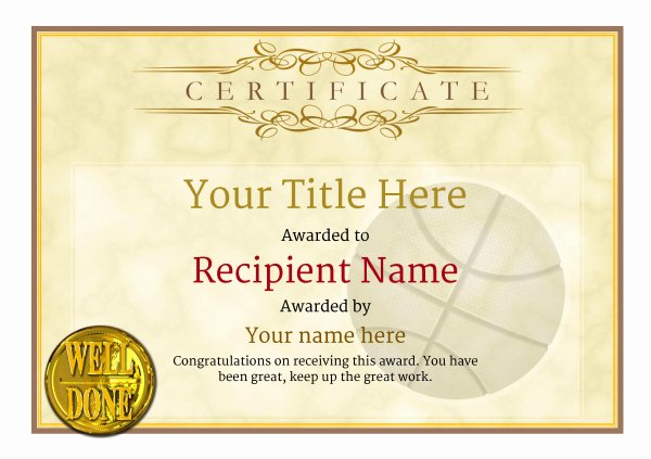 Free Printable Basketball Certificates Inspirational Free Basketball Certificate Templates Add Printable