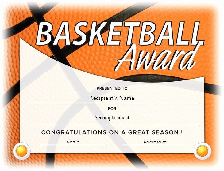 Free Printable Basketball Certificates Lovely 13 Free Sample Basketball Certificate Templates