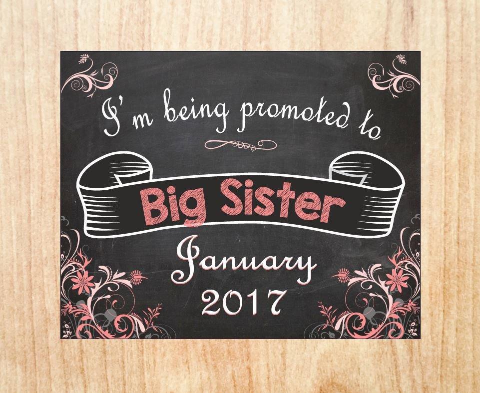 Free Printable Big Sister Certificate Elegant Big Sister Announcement Sign Printable Pregnancy Announcement