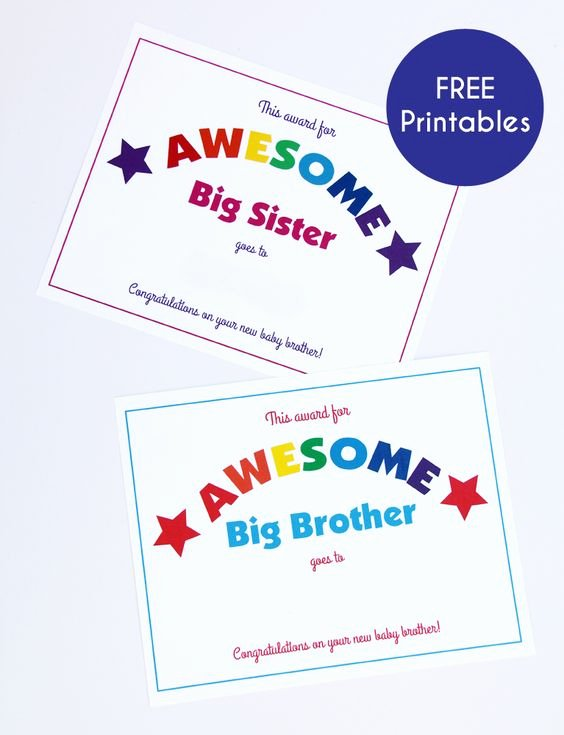 Free Printable Big Sister Certificate Fresh This Baby Of Mine A Virtual Baby Shower