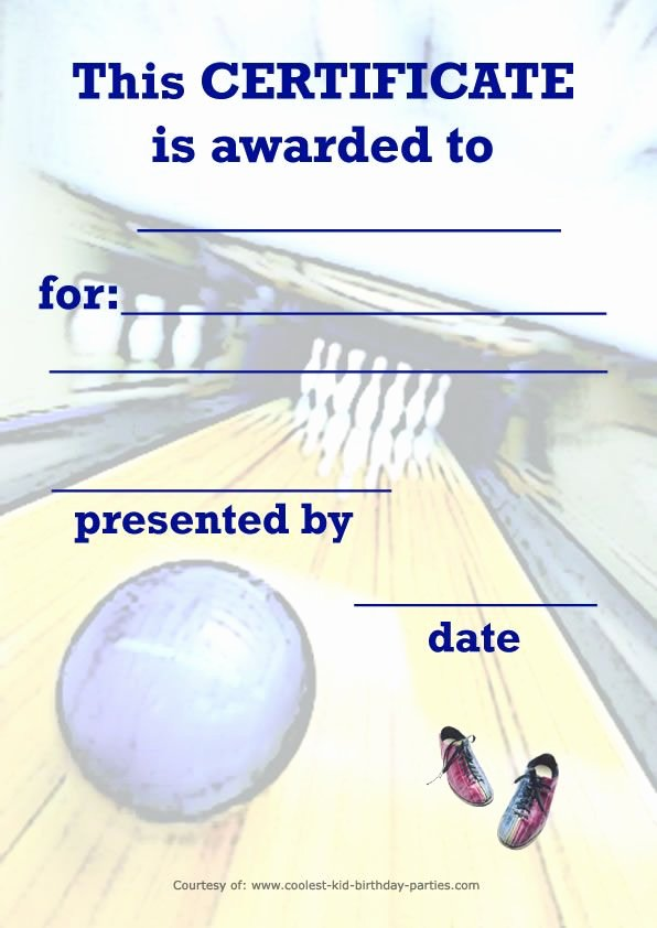 Free Printable Bowling Certificates Lovely 17 Best Images About Bowling On Pinterest