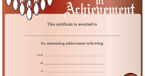 Free Printable Bowling Certificates Luxury This Printable Certificate Displays A Bowling Ball and