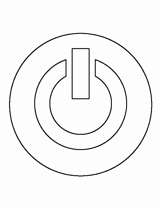 Free Printable button Templates Beautiful Power button Pattern Use the Printable Outline for Crafts