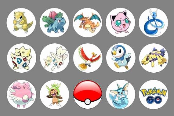 Free Printable button Templates Luxury Pokemon Go buttons Image 2 1 4 In Pokemon Cupcake Template