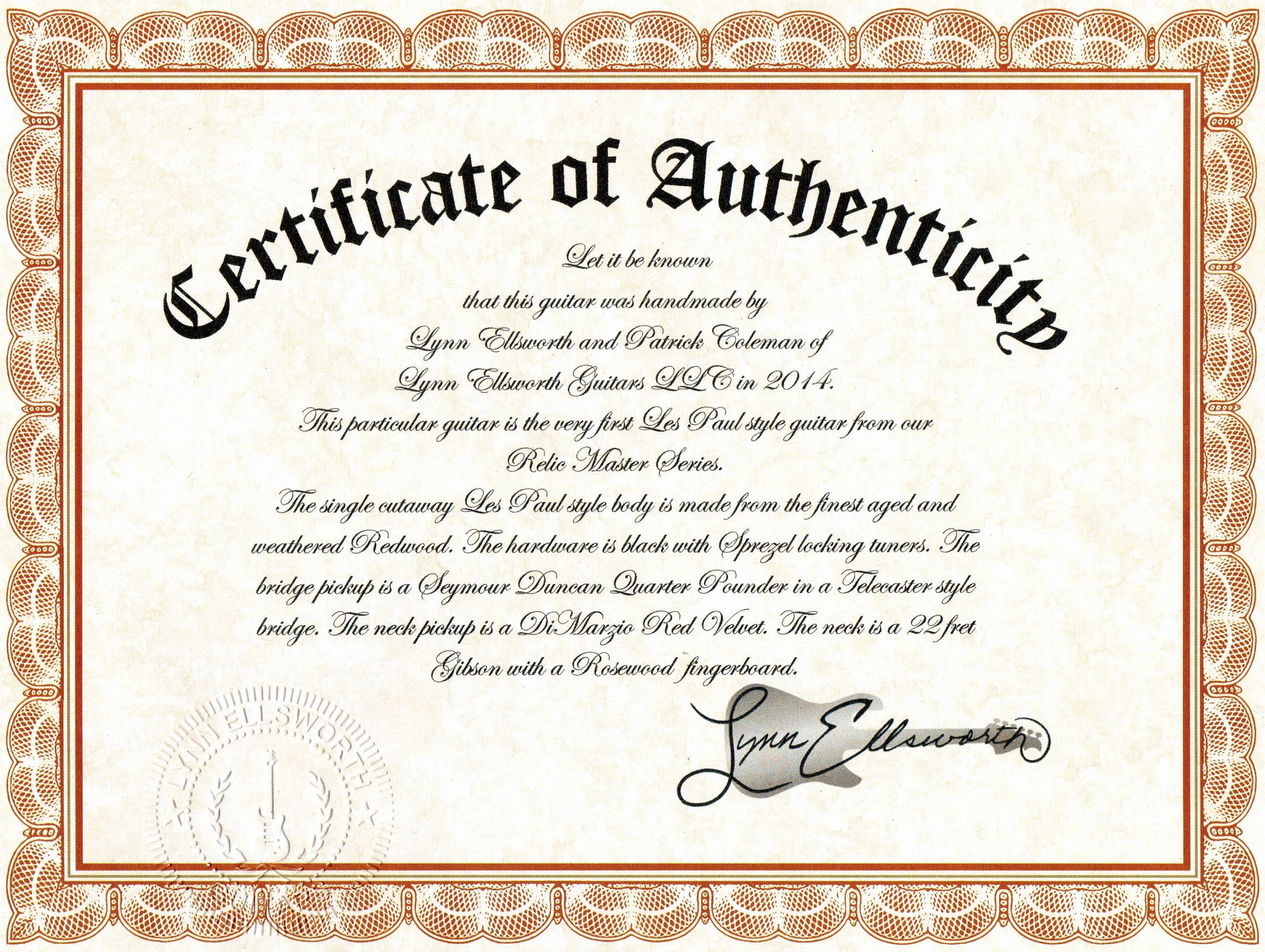 Free Printable Certificate Of Authenticity Templates Beautiful Certificate Authenticity