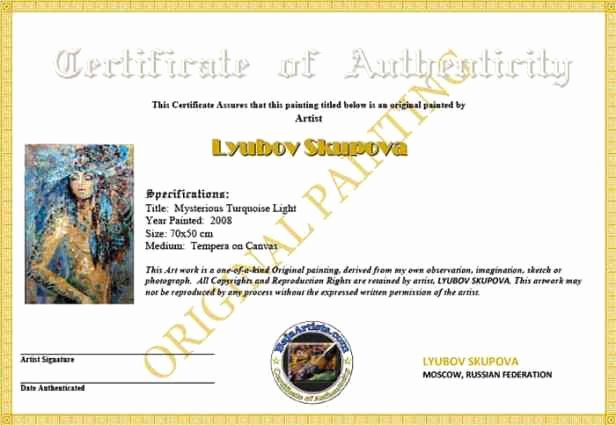 Free Printable Certificate Of Authenticity Templates Best Of Certificate Authenticity Templates Word Excel Samples