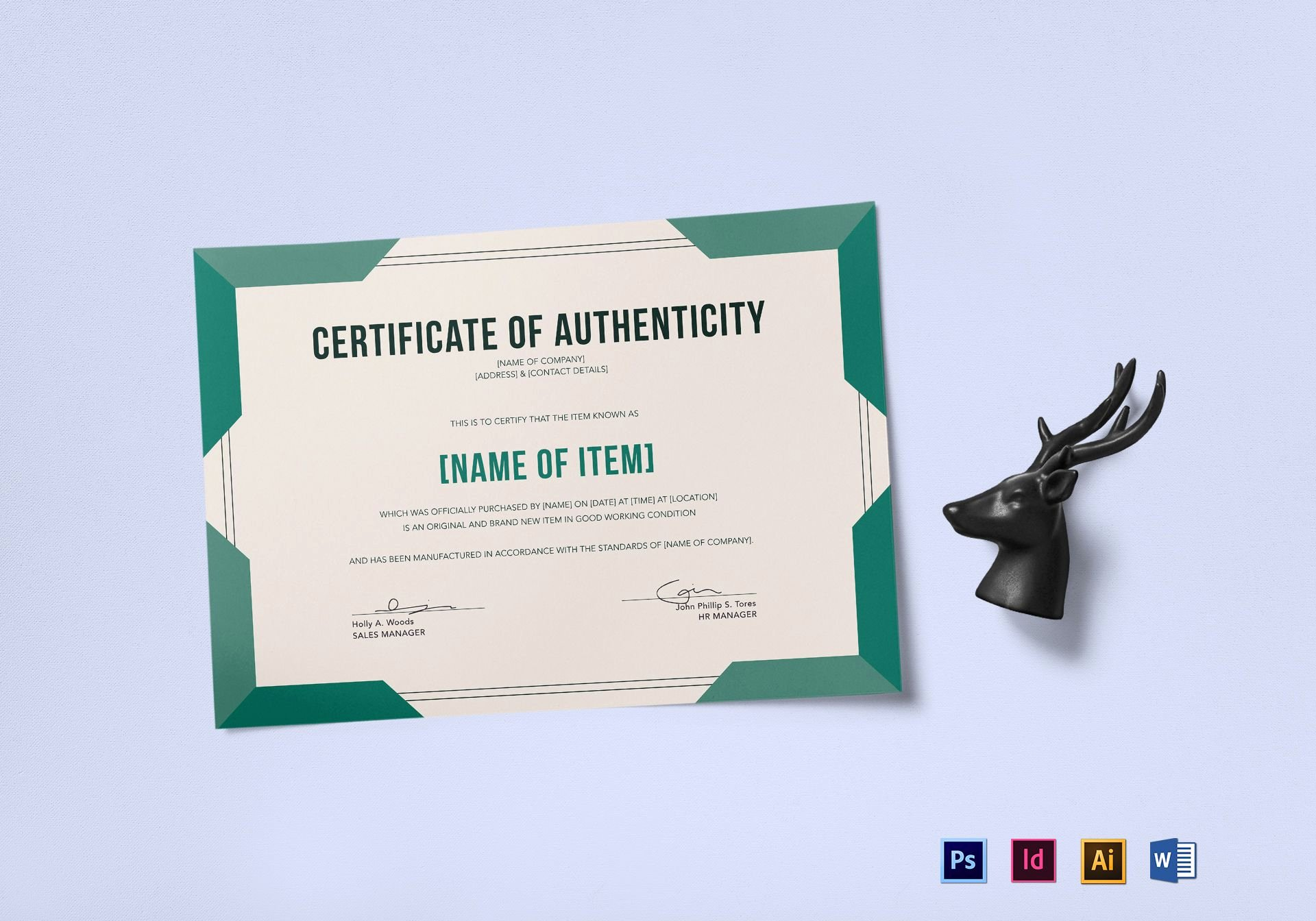 Free Printable Certificate Of Authenticity Templates Fresh Elegant Certificate Of Authenticity Design Template In Psd