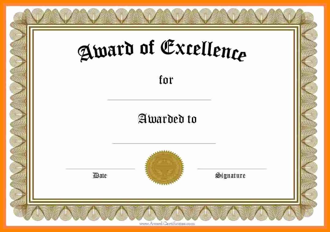 Free Printable Certificates for Students Beautiful Printable Awards Certificates Free Award for Elementary
